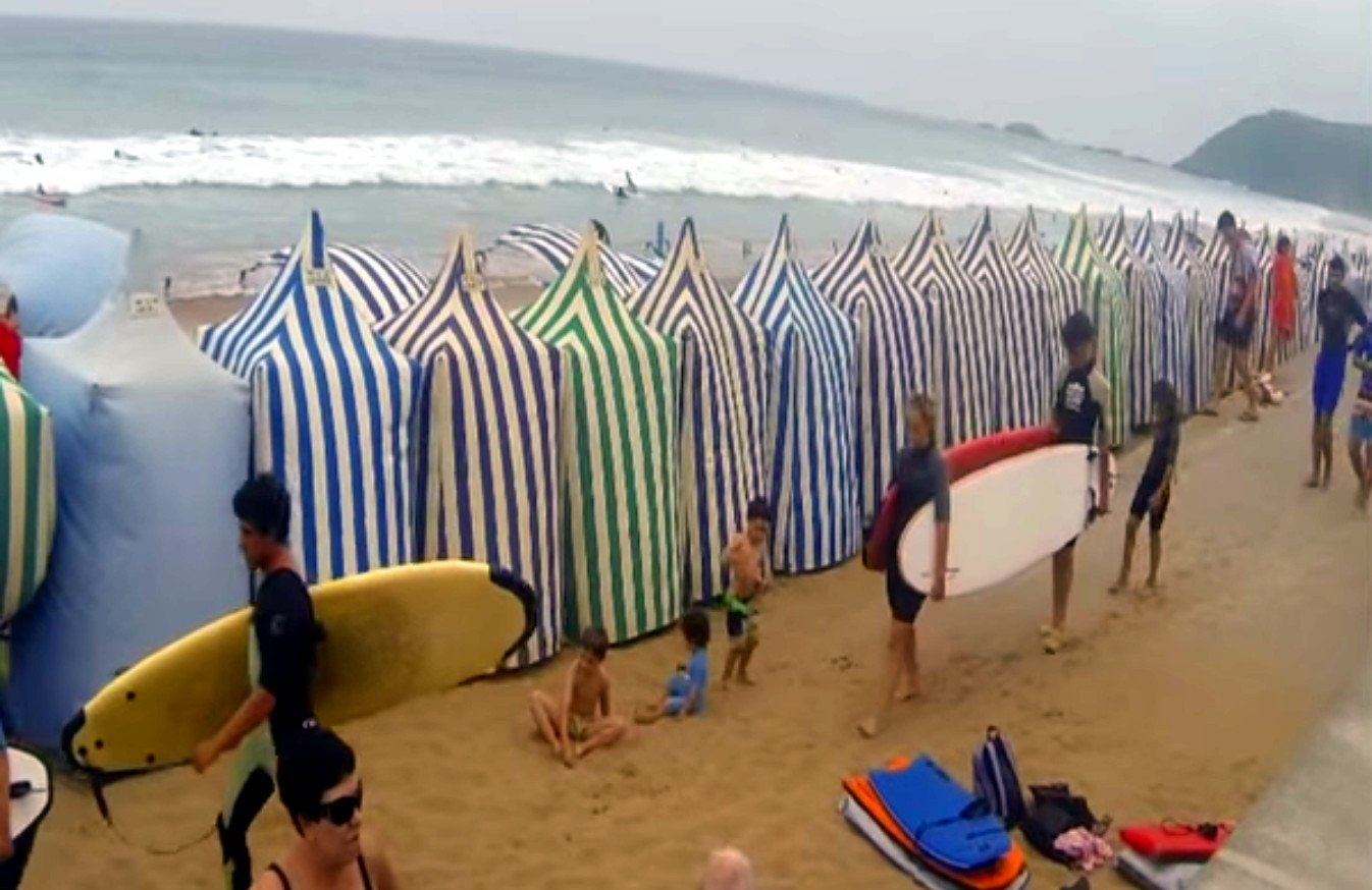 Video desde Zarautz
