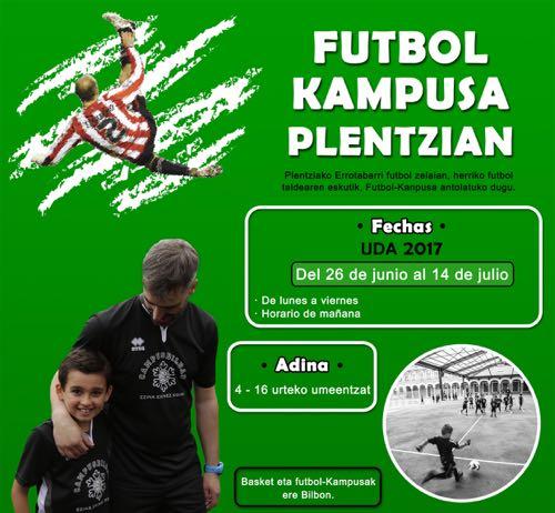 ¡Nuevo! campus de fútbol en Plentzia; Julio 2017